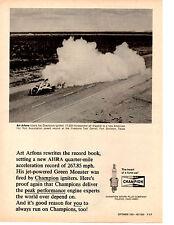 1969 ART ARFONS GREEN MONSTER @ FIRESTONE TEST CENTER  ~  ORIGINAL CHAMPION AD