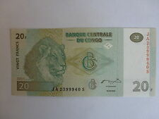 billet de 20 francs du congo de 30-06-2003 état neuf