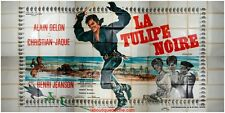 LA TULIPE NOIRE Affiche Cinéma GEANTE / WIDE Movie Poster ALAIN DELON 1963