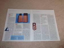 OHM Walsh 4 Speaker Review,1984,2 pgs, Full Test, RARE!