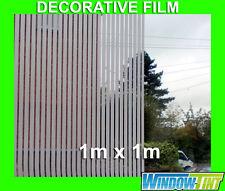 STRIPED DECORATIVE PRIVACY HOME WINDOW FILM - 1m x 1m Roll