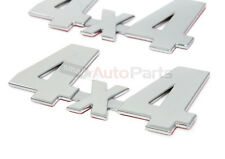 2 Chrome 4x4 Stick On Emblems for car*truck*suv*awd rear trunk/side/fenders