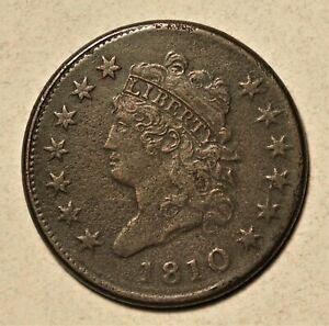 1810 Large Cent XF Details - Light Surface Porosity **Low Mintage**  No Reserve