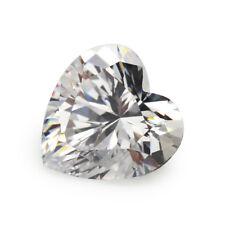 White Sapphire 6.02ct 10x10mm Heart Faceted Cut Shape AAAAA VVS Loose Gemstone