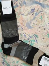 Paul Smith Mens Italian Socks Starlight Lurex Black & Grey K571 1-Size CottonMix