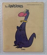 Dino Dinosaur The Flintstones Authentic 1967 Very Rare Sticker Card (B80)