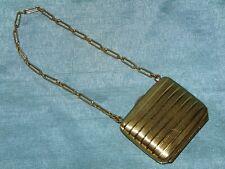 Stunning Edwardian Brass / Gilt Pillow Purse - Sovereign & Coin - Engine Turned
