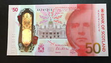 More details for unc bank of scotland £50 fifty pound banknote 2021 aa first prefix falkirk uk #1