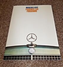 MERCEDES BENZ Passenger Car Programme 36-page brochure from late 1960s - MINT