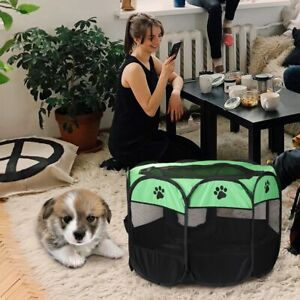 Folding Pet Cage Carrier Tent Dog House Playpen Multi-functionable Octagon Fence