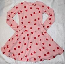 Boutique NO ADDED SUGAR Crocodile Tiers Pink Red Dot Bustle Dress 10 11 12