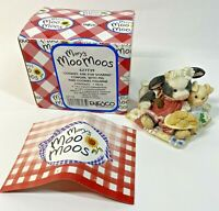 """Mary's Moo Moos 1993 Enesco """"Cookies Are For Sharing""""  Cow & Pig"""