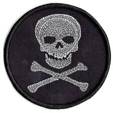 Posion Skull and Cross Bones applique patch Iron or Sew on Patch