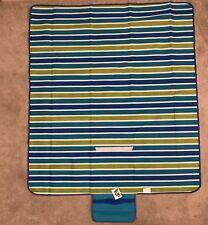 Fleece Picnic Blanket PEVA Waterproof backing Extra Large Fold-away Carry Handle