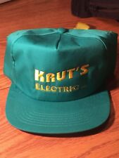 VTG KRUT S ELECTRIC INC EMBROIDERED Hat Snapback Trucker Hat cap  ADVERTISING ! 7509d95ca0be