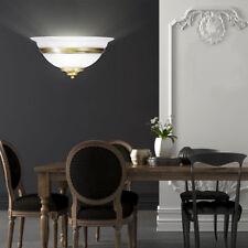 style campagnard LED Lumière murale Escalier éclairage vieux laiton verre EEK A+