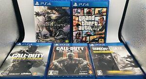 Lot Sony PS4Grand Theft Auto V GTA 5 / Call Of Duty / Rainbow Six Japan Ver