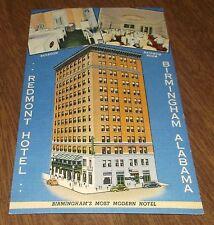 Postcard Vintage Linen - Redmont Hotel Birmingham Alabama - Sent 1939