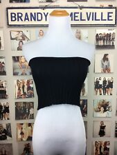 New! Brandy Melville Black stretchy cropped Ribbed Cotton Knit tube top NWT XS/S