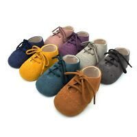 Baby Kids 0-18M Soft Sole Moccasin Boys Girls Toddler Suede Leather Crib Shoes
