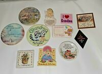 Vtg Magnet Lot Retro Grandma Sister Mother Daughter Kitchen Magnets Longaberger