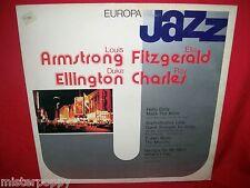 LOUIS ARMSTRONG ELLA FITZGERALD DUKE ELLINGTON RAY CHARLES LP 1981 ITALY MINT-
