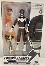 "Power Rangers Lightning Collection 6"" Mighty Morphin Black Ranger Hasbro"