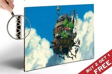 HOWL'S MOVING CASTLE POSTER * Miyazaki Vintage Movie Picture Thick A4 Print