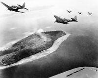 U.S. Navy Douglas SBD-5 Dauntless Dive Bombers Param Island WW2 Photo 731