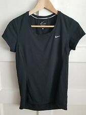 Nike women dri fit running black top shirt size small