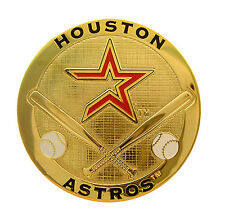 Houston Astros Round Metal MLB Logo Magnet