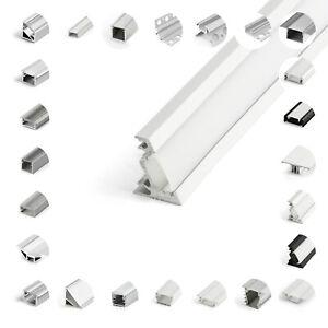 LED Aluprofil Aluminium Profile 1/2m Alu Schiene LED Leiste für LED-Streifen TOP