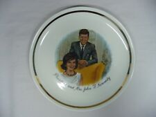 President and Mrs. John F Kennedy Decorative Collector Plate With Gold Band