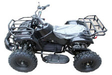 Electric Quad Bike 36v 1000w (Age 4-9 years) lights, racks GLOSS BLACK
