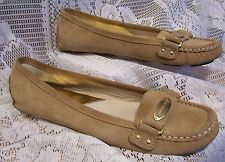 MICHEAL KORS TAN LEATHER MOCCASIN BALLET FLAT SHOES SIZE 9