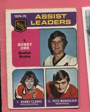 1975-76 75-76 OPC O-pee-chee Assist Leaders #209 Bobby Orr