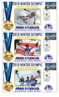 ANDREA FISCHBACHER 2010 OLYMPIC SUPERG SET OF GOLD COVs