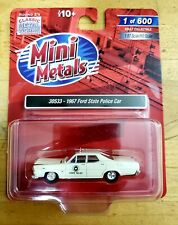 Mini Metals 30533 1967 Ford State Police Car (White) 1:87 HO Scale LIMITED /600