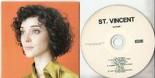ST VINCENT Actor 2009 UK 11-track promo CD 4AD
