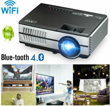 3000lm Wifi HD Mini Projector Blue-tooth Android 7.1 Apps WLAN HDMI USB Youtube