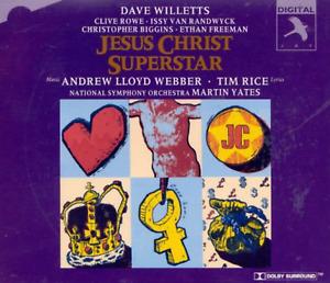 """JESUS CHRIST SUPERSTAR"" [1994 Studio Cast] Yates (2-CD 1996) Jay **GREAT** sryb"