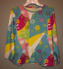 Women's Ferreira New W/Tag Tennis No-Sweat Floral 3/4 Sleeve Shirt Size-M