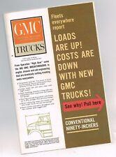 """1960? Big GMC 90"""" CONVENTIONAL Truck/Tractors POSTER Brochure:BW9000,B4000,6V-71"""