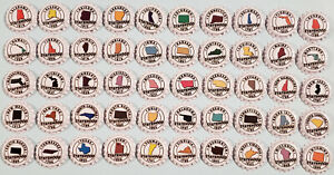 Lot of 50 US States Beer Bottle Caps Complete Set (New)