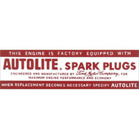 1964-1967 Mustang Autolite Spark Plug Air Cleaner Decal, 6-Cylinder 44-47227-1