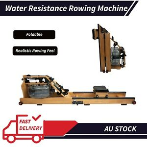 Foldable Water Resistance Rowing Machine Cardio Home Gym Fitness Workout