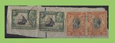 K.U.T. 1934 KGV stamps o/p, Dar-es-salaam - Tabora TPO Down cancel