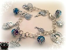 Alice in wonderland Inspired silver charm jewellery Bracelet