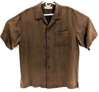 Mens Tommy Bahama Short Sleeve Hawaiin Shirt Size Large 100% Silk