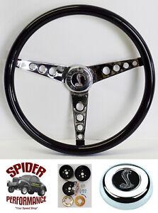 """1970-1976 Torino Gran Torino steering wheel COBRA 15"""" GLOSSY GRIP"""